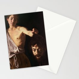 DAVID WITH THE HEAD OF GOLIATH - CARAVAGGIO  Stationery Cards