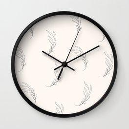 Minimalist leaves, pearl Wall Clock