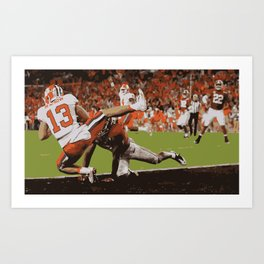 Clemson is Here Art Print