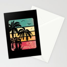 Vieques Puerto Rico Vintage Summer Stationery Cards