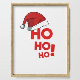 Ho Ho Ho Christmas Xmas Winter Holidays Santa Claus Hat Serving Tray