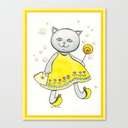 Sweet Candy Kitty Cat Canvas Print