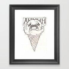 I scream ice cream Framed Art Print