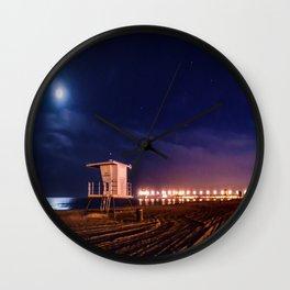 Surf City Peace Wall Clock