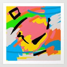 Brushstrokes3 Art Print