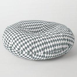 PPG Night Watch Pewter Green Rippled Diamonds, Harlequin, Classic Rhombus Pattern Floor Pillow