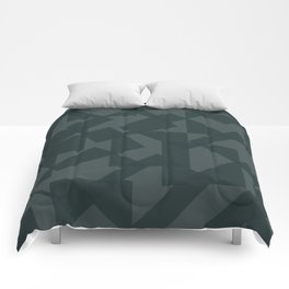 grey pattern // geometric Comforters