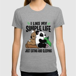 Panda Bear Koala Lazy Sleeping Eating Couch gift T-shirt