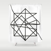 the wire Shower Curtains featuring Wire by FLATOWL