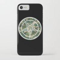 pentagram iPhone & iPod Cases featuring Pentagram Camo by Parin Cashmony