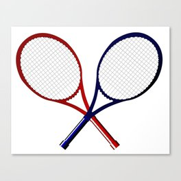 Crossed Rackets Canvas Print