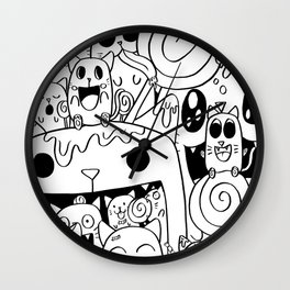 Lots of Lollies Wall Clock