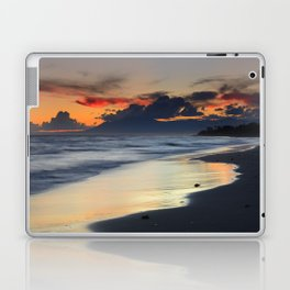 Magic red clouds. Sea dreams Laptop & iPad Skin