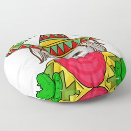Cinco de Doggo Funny Shih Tzu Dog for Cinco de Mayo design Floor Pillow