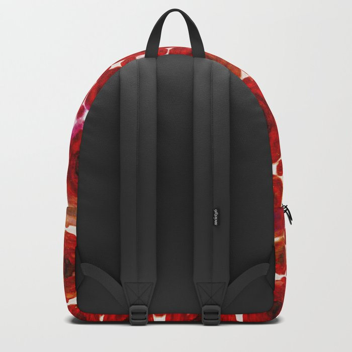 Abstract poppy floral pattern Backpack