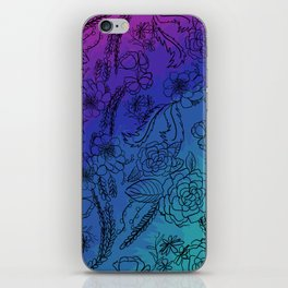Floral Rainbow iPhone Skin