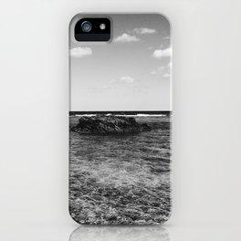 B&W Okinawa, Japan Beach Ocean View iPhone Case