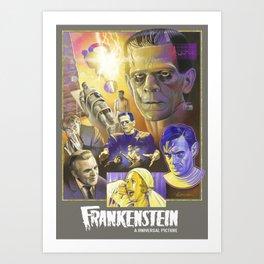 """""""FRANKENSTEIN"""" (1931) Tribute Poster Art Print"""