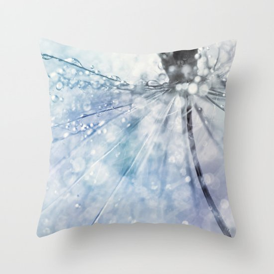 Fairy Baby Blue Throw Pillow