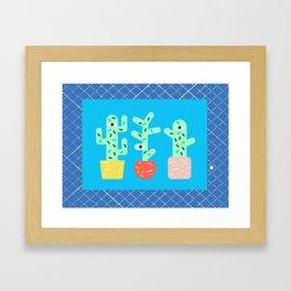 3 cactus are better than 1 Framed Art Print