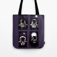 howl Tote Bags featuring Howl by Zombie Rust