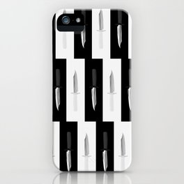 Double Dark & White Knives iPhone Case
