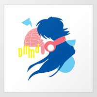 dramatical murder Art Prints featuring DRAMAtical Murder (Aoba) by MyobiArt