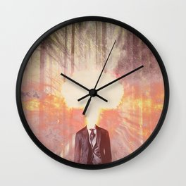 Headless man in the woods Wall Clock