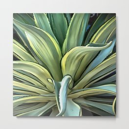 Tropical Agave Metal Print