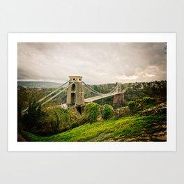 Bristol- Clifton Suspension Bridge Panorama Art Print