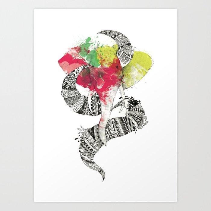 Art'lephant. Art Print