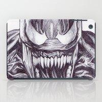 venom iPad Cases featuring Freaky Venom by DeMoose_Art