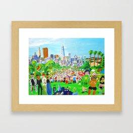 PRIDE: Dolores Park Framed Art Print