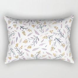 Lavender watercolor floral pattern Rectangular Pillow