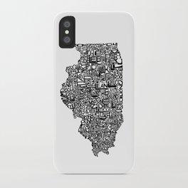 Typographic Illinois iPhone Case
