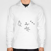 skiing Hoodies featuring biathlon gun go cross-country skiing by Lineamentum