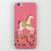 carousel iPhone & iPod Skins featuring Carousel by Prelude Posters
