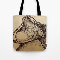 chuck Tote Bags featuring Chuck it by Esteban Garza