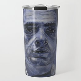 Young Johnny in Blue Travel Mug