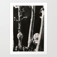 tim burton Art Prints featuring  the boys - tim burton by PaperTigress