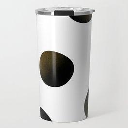 Dusted Black Polka Travel Mug