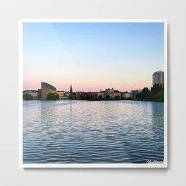 Clear & Blurry Lake Metal Print