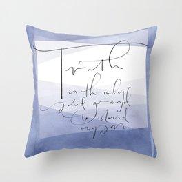Truth - Elizabeth Cady Stanton Throw Pillow