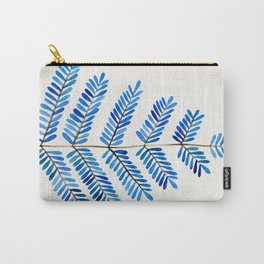 Blue Leaflets Carry-All Pouch