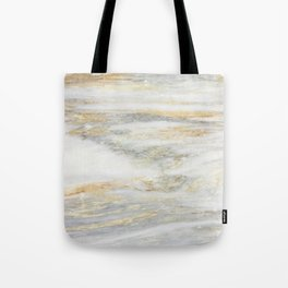 White Gold Marble Texture Tote Bag