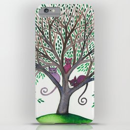 Morovis Stray Cats in Tree iPhone Case