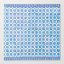Blue Portuguese Tile Pattern Canvas Print