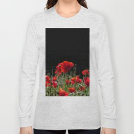 Red Poppies in bright sunlight Long Sleeve T-shirt