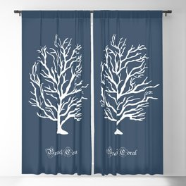 AFE Branch Coral, Blue Grey Blackout Curtain