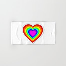 Lbgt rainbow heart Hand & Bath Towel